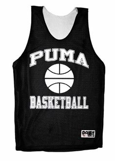 e480f5076efec3  Vintage  90s Puma  Basketball Jersey in Black  Mens Size Medium Basketball  Jersey