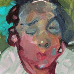 Acrylic painting by England-born, Georgia Artist Ruth Franklin, Ellis Island Series Southern Expressionism, Contemporary Figurative Art Acrylic Paint On Wood, Painting On Wood, Leon Kossoff, Frank Auerbach, Ellis Island, Face Art, Art Faces, English Artists, Mug Shots