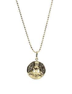 Sydney Evan Gold Diamond Sitting Buddha Necklace at Elements Chicago