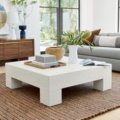 Oversized Coffee Table, Large Square Coffee Table, Stone Coffee Table, Concrete Coffee Table, Low Coffee Table, Coffee Table Styling, Cool Coffee Tables, Coffee Table Design, Decorating Coffee Tables