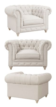 Our Regency Linen Tufted Armchair has more than enough style to go around, but alas—it can only seat one. That lucky someone will experience the comfort of its overstuffed, down-blend cushion, as well ... Find the Regency Linen Tufted Armchair, as seen in the Modern British Flat Collection at http://dotandbo.com/collections/modern-british-flat?utm_source=pinterest&utm_medium=organic&db_sku=116860
