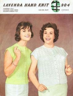 Items similar to PDF Vintage Womens Ladies Knitting Pattern Large Sizes Lavenda Lacy Cardigan Blouse Preppy Secretary Pin Up Girl RARE on Etsy Vintage Knitting, Hand Knitting, Knitting Patterns, Crochet Patterns, Vintage 1950s Dresses, Pin Up Girls, Preppy, Knitwear, Knit Crochet