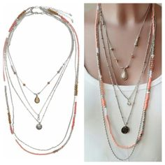 #montresmode, #bijouxfantaisiefemme, #bijoux, #streetsyle, #necklace, #watches Washer Necklace, Beaded Necklace, Jewelry Model, Trendy Jewelry, Cool Girl, Jewerly, Fashion Accessories, Bling, Boho