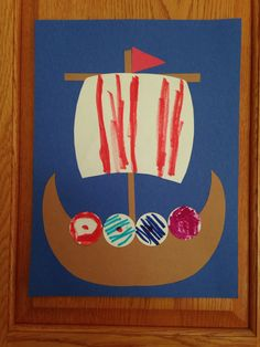 Vikings Longship Craft - Kindergarten Craft - History Craft - Kids Craft