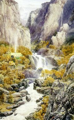 Alan Lee's Lord of the Rings Artwork / Rivendell