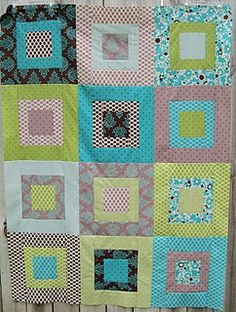 "Fat Quarter Quilt -- the number of fat quarters you have equals the number of 15"" blocks you end up with."