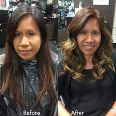 Balayage by Nancy Vo. To book appointments please call Daversa Salon at (562) 795-5774.