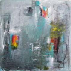 "Contemporary Painting - ""Paranoid"" (Original Art from Kat Crosby Art)"