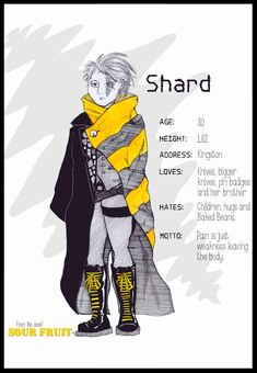 Meet Shard, one of the meanest, most terrifying and interesting characters from my novel Sour Fruit. A dystopian with a difference. This ink and watercolour illustration of a character design from sci-fi. Sour Fruit, Watercolour Illustration, Bounty Hunter, Her Brother, Badge, Sci Fi, Character Design, Novels, Meet