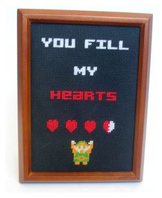 Link Zelda cross stitch pattern. $3.00, via Etsy.