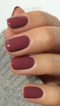 54 stylish fall nail designs and colors you& love - 38 stylish . - 54 stylish fall nail designs and colors you will love – 38 stylish … – – - Sns Nails Colors, Love Nails, Pretty Nails, Shellac Nail Polish Colors, Toe Nail Polish, One Color Nails, Gel Toe Nails, Shellac Nail Designs, Fall Nail Polish