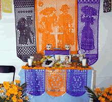 Ofrenda de Orizabita, Ixmiquilpan, Hidalgo. Pueblo indígena Hñahñu (otimí).