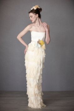 BHLDN BHLDN Mille Petals Corset Gown Wedding Dress