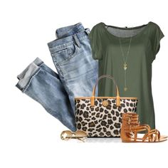 """Green and Leopard"" by cindycook10 on Polyvore"