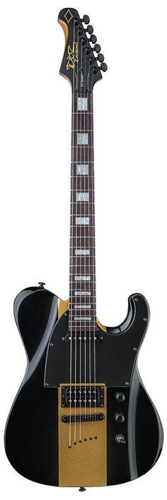 Diamond Guitars Maverick ST Electric Guitar – Black and Gold The MAVERICK applies all the modern contours that DBZ Yamaha Guitar, Prs Guitar, Music Guitar, Guitar Amp, Cool Guitar, Ukulele, Yamaha Bass, Guitar Pins, Guitar Body
