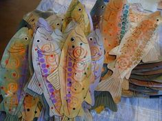 Middle Maiden Arts: The 69 Fish Project: Stuffed Paper Bag Fish ocean theme at school