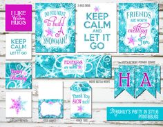 INSTANT DOWNLOAD - Frozen Birthday Mini Printable Package