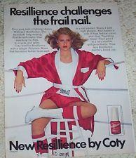 1979 ad page - COTY Cosmetics Nail Polish BOXING sexy girl boxer vintage ADVERT