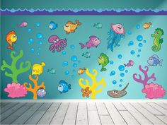 Ocean Wall Decal Fish Wall Decal Under the Sea by YendoPrint