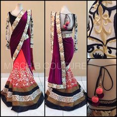 MischB Couture Coral Saree
