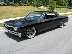 Black '67 chevelle. My dream car with one of my besties.