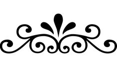 Flourish Border Element SVG for Cricut and Silhouette Machines plus .PNG and EPS Iron On Transfer Laser Cutting and Engraving Stencil Templates, Stencil Patterns, Stencil Designs, Embroidery Patterns, Stencils, Wood Patterns, Cross Patterns, Hand Embroidery, Scroll Saw Patterns Free