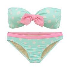 Polka dot pastel bikini