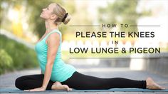 """That """"ouchy"""" feeling many yoga students get when their back leg is on the floor in low lunges or even pigeon pose comes from pressure on the kneecap. Why is that? More importantly, what can we do about it? #yoga, #yogalife"""