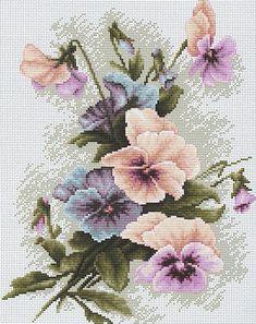 Pastel Poppies Cross Stitch Kit