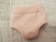 Easy doll panties from a toddler sock