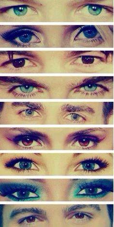Beautiful eyes of beautiful people