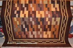 Monochromatic Brown Quilt- This free quilt pattern has a neutral color, so it can highlight the pops of color in nearly every room in the house.