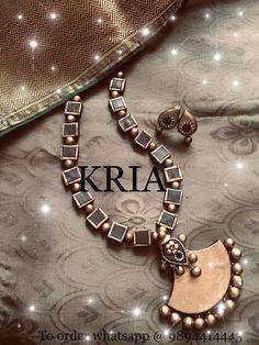 Style Terracotta Jewellery Online, Terracotta Jewellery Designs, Antique Jewellery Designs, Antique Jewelry, Jewelry Design, Funky Jewelry, Stylish Jewelry, Luxury Jewelry, Clay Jewelry