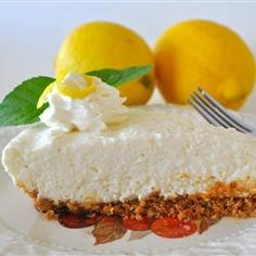 "Lemon Icebox Pie III | ""This is so creamy and delicious. I first had lemon icebox pie in a restaurant in Alabama and this tastes just like it."""