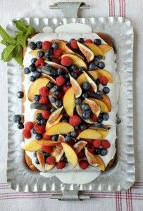 Vanilla Cake with Summer Fruit – Healthy Fruits Desserts