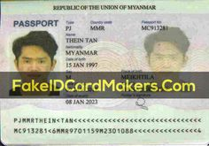 Fake Myanmar (Burma) Passport Template PSD Download