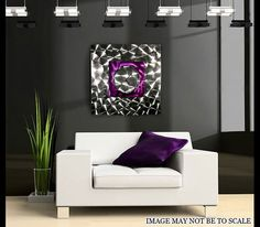 Wind Elemental contemporary metal art clock by Jon Allen |  #modern #clock #timepiece #functional #art #wallart #interiordesign #decor #design #modern #homedecor #ideas #home #purple #metallic #wallhanging #office #inspiration See More: http://www.statements2000.com/clocks/wind_elemental_abstract_metal_art_wall_clock_by_artist_jon_allen/