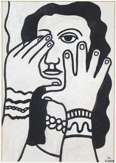 Fernand Léger - La femme aux cheveux noirs