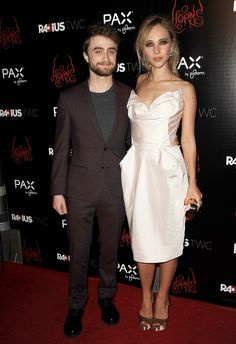 Right on time for Halloween, Daniel Radcliffe and Juno Temple promoted their mysterious movie Horns in LA.