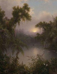 "Martin Johnson Heade, ""South American River,"" 1868 (detail). Oil on canvas, 26 x 22 5/8 inches. Museum of Fine Arts, Boston;"