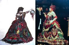 "Phantom of the Opera, Carlotta's ""Elissa"" costume, (Maria Bjornson)"