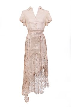 Doily lace woven ivory cream dress by LaMaurer on Etsy, $375.00