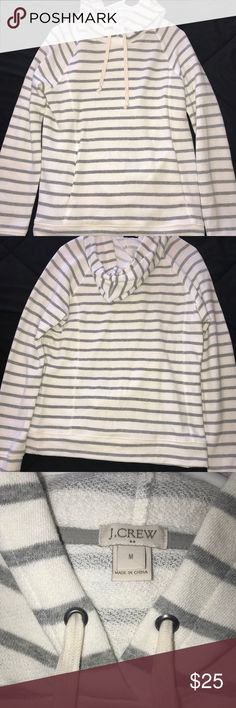 JCrew striped hoodie jcrew hoodie J. Crew Tops Sweatshirts & Hoodies