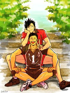 Kuroo & Daichi #haikyuu Awwwww