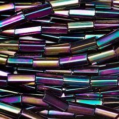 89a7d09ce3df Hank Purple Iris Metallic Bugle -  2   4 mm Tube Beads - Czech Glass Seed  Beads
