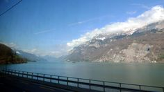 Passing the Zurichsee on the Bernina Express, Switzerland's most scenic train ride. Tirano, Italy to St Moritz, Switzerland. Price Tickets, Online Tickets, British Pullman, Simplon Orient Express, Bernina Express, Scenic Train Rides, Switzerland Vacation, Train Journey, Swiss Alps