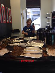 """Spending my day off making custom extensions for a client... Why have """"close"""" when you can have """"perfect"""" #selfie #me #blondecolorspecialist #extensions #blonde #hair #highlights #losangeleshair #blondesalon #blondtourage #comeinwereblonde"""