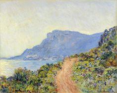 Claude Monet Coastal Road At Cap Martin, Near Menton oil painting reproductions for sale