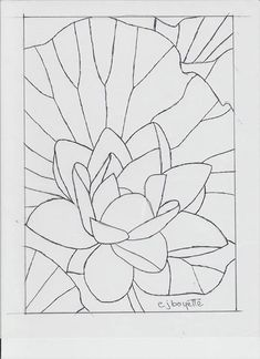 Water lily by Carol Boyette. Could be adapted for stained glass with a few changes