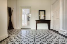 EMILE tile by Revoir Paris with touquet line and corner